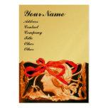 Papel metálico de la BELLEZA del oro rojo marrón E Plantilla De Tarjeta Personal