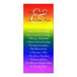 papel metálico del boda 4x9 del orgullo gay del comunicados personalizados