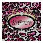 Papel metálico del leopardo rosado rojo opulento d invitaciones personalizada