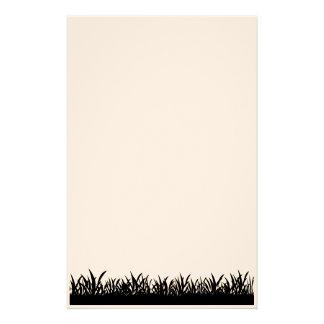 Papel negro de la hierba  papeleria de diseño
