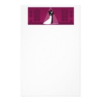 Papel nupcial de baile de los efectos de escritori  papeleria de diseño