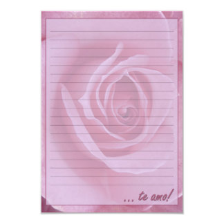 "#Papel of letter ""I love You! "" Card"