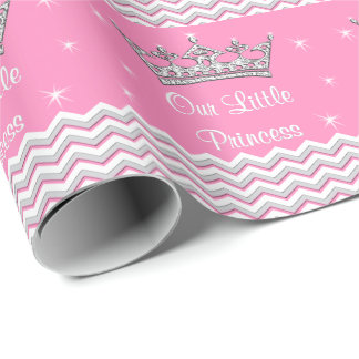 Papel personalizado rosa de la princesa envoltorio papel de regalo