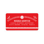Papel Picado Address Labels - Red