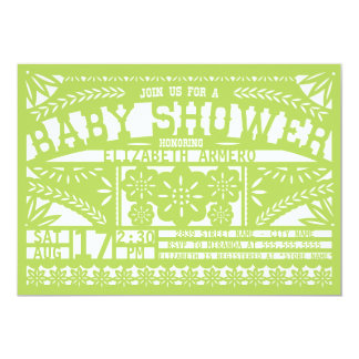 "Papel Picado Baby Shower Invitation 5"" X 7"" Invitation Card"