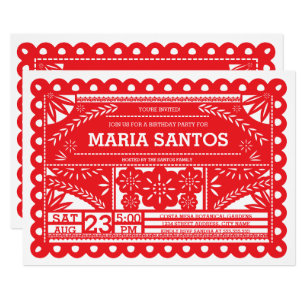 Papel Picado Birthday Party Invite