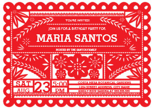 Papel Picado Invitations Zazzle