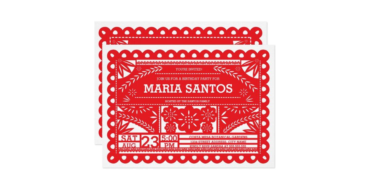 Spanish Birthday Invitations Announcements Zazzle - Birthday invitation wording spanish
