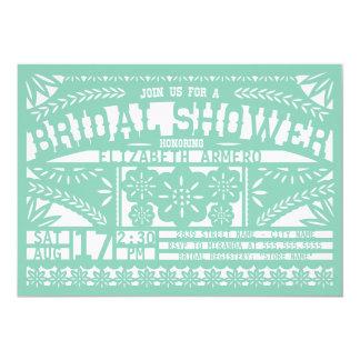 "Papel Picado Bridal Shower Invitation 5"" X 7"" Invitation Card"