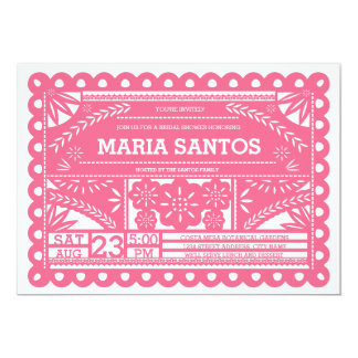 Papel Picado Bridal Shower Invite - Pink