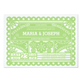 Papel Picado Engagement Party Invite - Green