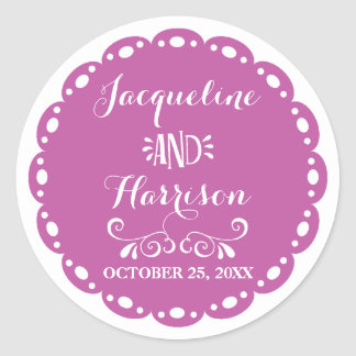 Papel Picado Envelope Seal Purple Fiesta Wedding