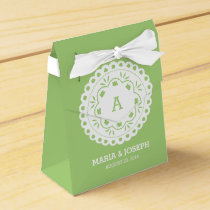 Papel Picado Favor Box - Green