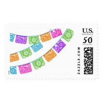 Papel Picado Flags Multicolor Stamp