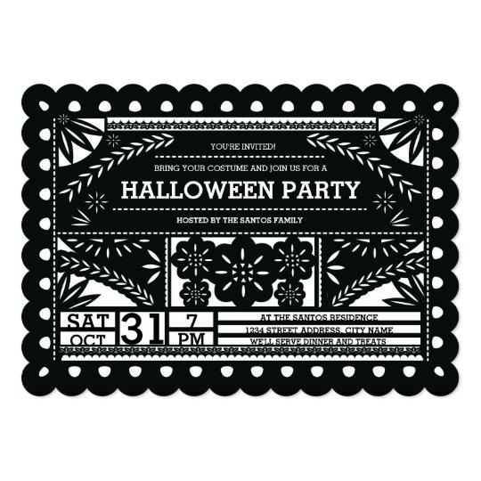 Papel Picado Halloween Party Invitation