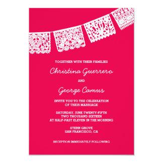 Papel Picado Hot Pink | Wedding Invitation