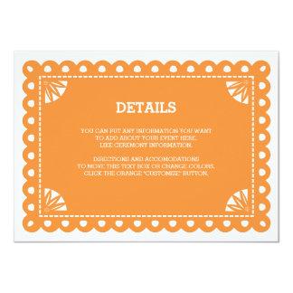 Papel Picado Insert Card - Orange
