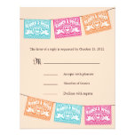 Papel Picado Love Birds Wedding Banners RSVP Invite