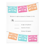 Papel Picado Love Birds Wedding Banners RSVP Personalized Announcement