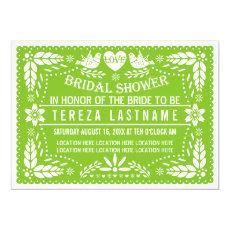 Papel picado lovebirds green wedding bridal shower 5