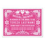 Papel picado lovebirds pink wedding bridal shower card