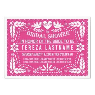 Papel picado lovebirds pink wedding bridal shower