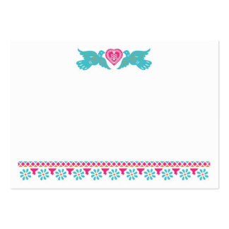 Papel Picado Lovebirds Place Card Business Card Template