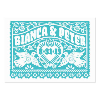 Papel Picado Lovebirds Wedding Banners Info Card Large Business Card