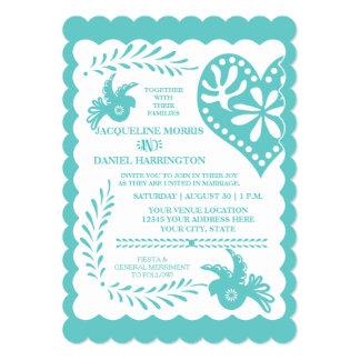 Papel Picado Mexican Fiesta Wedding Banner Theme Card