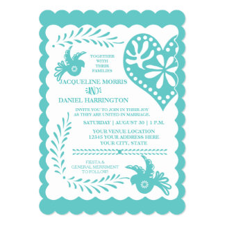Papel Picado Mexican Fiesta Wedding Banner Theme Card
