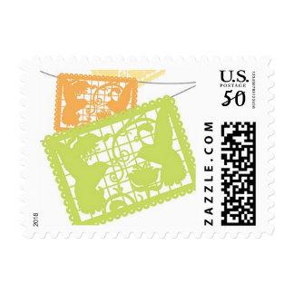 Papel Picado Mexico Destination Wedding Stamp