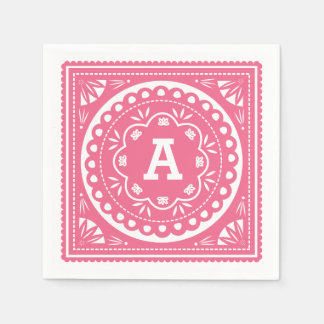Papel Picado Paper Napkins - Pink Standard Cocktail Napkin