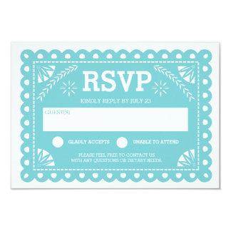 Papel Picado que casa RSVP Invitación 8,9 X 12,7 Cm