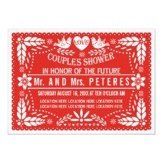 Papel picado red wedding couples shower 5