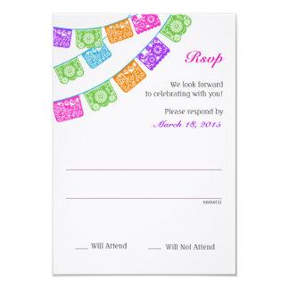 Papel Picado Rsvp Multicolor Custom Invites