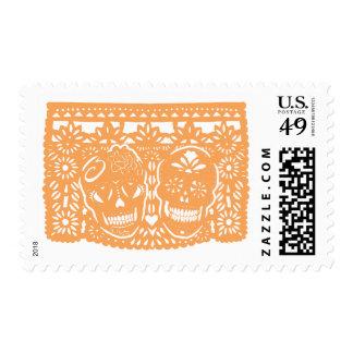 Papel Picado Sugar Skulls Postage Stamp