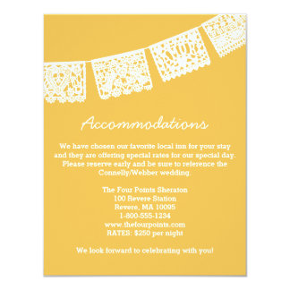 Papel Picado | Wedding Accommodations Card
