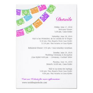 Papel Picado Wedding Details Enclosure Multicolor Personalized Announcements