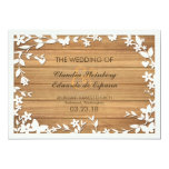"Papel Picado Wedding Invitation - Lovely Doves 5"" X 7"" Invitation Card"