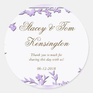 Papel Picado Wedding Invitation - Lovely Doves Classic Round Sticker