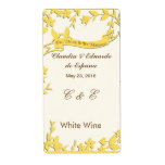 Papel Picado Wedding Invitation - Lovely Doves Label