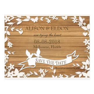 Papel Picado Wedding Invitation - Lovely Doves Postcard