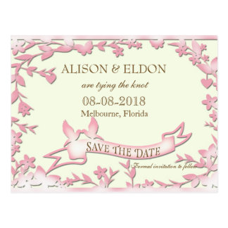 Papel Picado Wedding Invitation - Lovely Doves Postcard