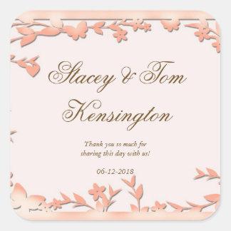 Papel Picado Wedding Invitation - Lovely Doves Square Sticker