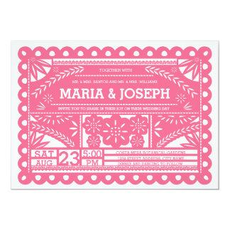 Papel Picado Wedding Invite - Pink