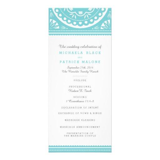 Papel Picado Wedding Program