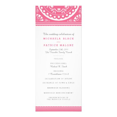 The Most Beautiful Wedding Invitations RSVP Cards And Much More Papel Picado Wedding Program