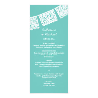 Papel Picado | Wedding Reception Menu Card