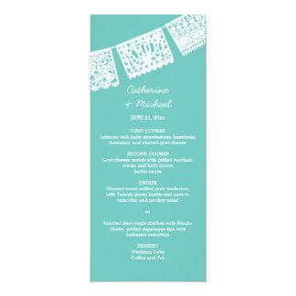 Papel Picado   Wedding Reception Menu Card