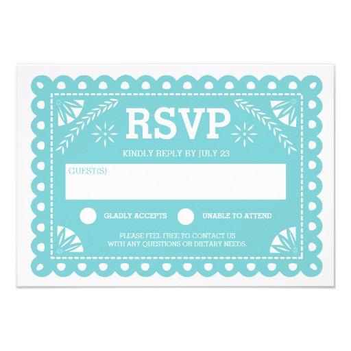 papel picado wedding rsvp custom invitation - Papel Picado Wedding Invitations
